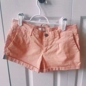 Pink soft denim shorts